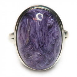 Кольцо с чароитом 1230-nr