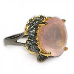 Кольцо с розовым кварцем 1325-er
