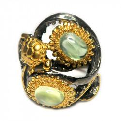Кольцо с пренитом 1507-er