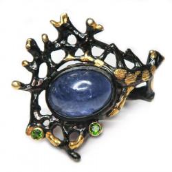 Кольцо с танзанитом 1666-er