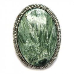 Кольцо с серафинитом (клинохлор) 583-nr