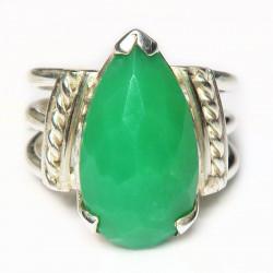 Кольцо с хризопразом 651-er