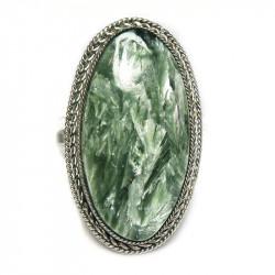 Кольцо с серафинитом (клинохлор) 764-nr