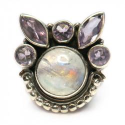 Кольцо с лунным камнем 1303-nr