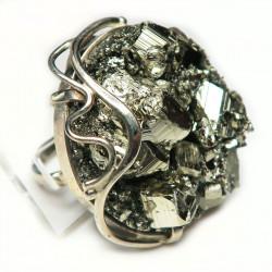 Кольцо с пиритом 1494-nr