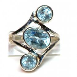 Кольцо с голубым топазом 1345-er
